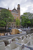 Bici del canale, Amsterdam Fotografia Stock Libera da Diritti