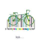 Bici del codice a barre colorato delle bande Illustrazione di Stock