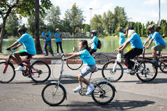Bici del evento para la mamá Foto de archivo libre de regalías