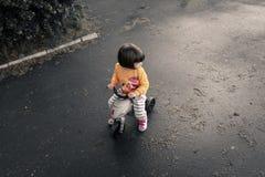 Bici del montar a caballo del bebé imagenes de archivo