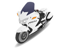 Bici del motor de la motocicleta de la policía Imagen de archivo libre de regalías