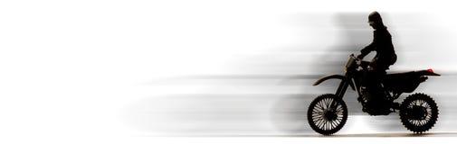 Bici del motor que apresura Fotografía de archivo libre de regalías