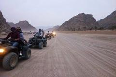 Bici del quadrato in deserto Fotografie Stock