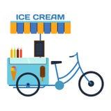Bici del ristorante di vettore di colore del gelato dell'alimento della via Immagine Stock Libera da Diritti