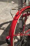 Bici del rojo del vintage Fotos de archivo