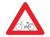 Bici del segnale stradale Fotografia Stock