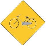 Bici del segnale stradale Immagine Stock