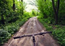 Bici del timone su una strada campestre immagini stock