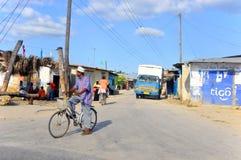 Bici del uso del Masai para el transporte Fotos de archivo libres de regalías