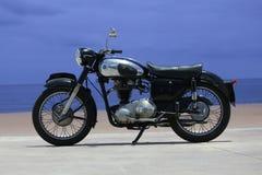 Bici del vintage de AJS Imágenes de archivo libres de regalías