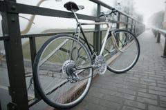 Bici del vintage en la foto de la calle Imagen de archivo