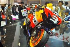 Bici della corsa della Honda al salone dell'automobile di Tokyo 2009 Fotografie Stock