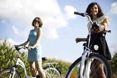 Bici della donna Immagini Stock