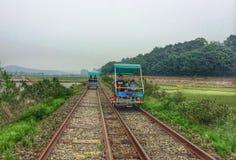 Bici della ferrovia fotografia stock libera da diritti