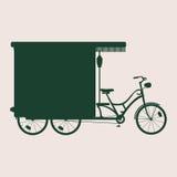 Bici della siluetta pesante Fotografia Stock