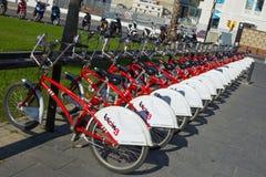 Bici di Bicing a Barcellona Fotografia Stock Libera da Diritti