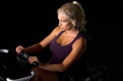 Bici di esercitazione Recumbent Fotografie Stock Libere da Diritti