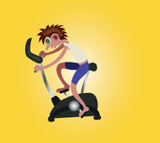 Bici di esercizio Immagini Stock Libere da Diritti