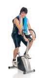 Bici di forma fisica dell'adolescente Fotografia Stock Libera da Diritti
