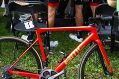 Bici di Greg van avermaet's al Gran Premio Cycliste di Montreal il 9 settembre 2017 Fotografia Stock Libera da Diritti