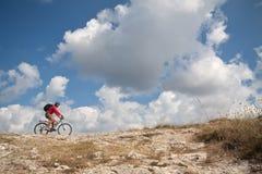 Bici di guida Fotografia Stock Libera da Diritti