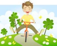 Bici di guida di divertimento Fotografia Stock