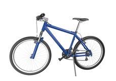 Bici di montagna blu isolata Fotografia Stock Libera da Diritti