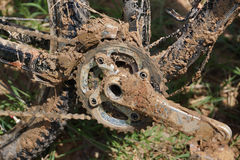Bici di montagna sporca Fotografia Stock Libera da Diritti