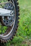 Bici di motocross della ruota posteriore Immagine Stock Libera da Diritti
