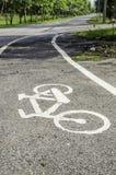 Bici di simbolo della strada Immagine Stock Libera da Diritti