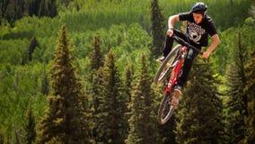 Bici di Slopestyle Fotografia Stock