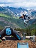Bici di Slopestyle Fotografia Stock Libera da Diritti