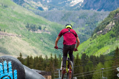 Bici di Slopestyle Fotografie Stock