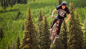 Bici di Slopestyle Immagine Stock