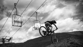 Bici di Slopestyle Fotografie Stock Libere da Diritti