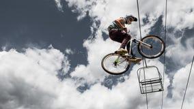 Bici di Slopestyle Immagine Stock Libera da Diritti