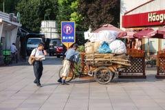 Bici di trasporto a Shanghai Immagine Stock Libera da Diritti