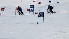 Bici doppia di slalom di Teva Fotografia Stock Libera da Diritti
