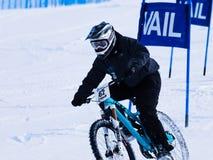 Bici doppia di slalom di Teva Fotografie Stock Libere da Diritti