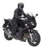 Bici e motociclista Fotografie Stock Libere da Diritti