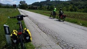 Bici e viaggio Immagini Stock