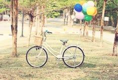 Bici ed aerostato Fotografie Stock