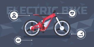 Bici eléctrica moderna infographic stock de ilustración