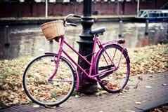 Bici en Amsterdam Foto de archivo libre de regalías