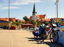 Bici en Bornholm Foto de archivo libre de regalías