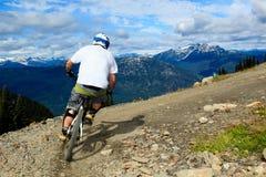 Bici en declive Foto de archivo