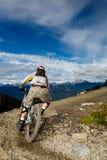 Bici en declive fotografía de archivo