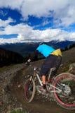 Bici en declive fotografía de archivo libre de regalías