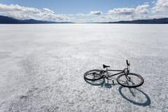 Bici en el hielo Foto de archivo