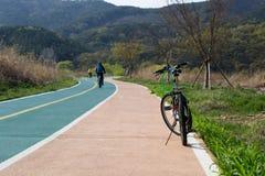 Bici en el parque Foto de archivo